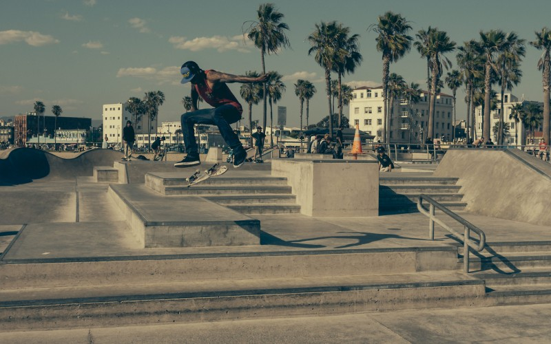 Skate Park Muscle Beach California
