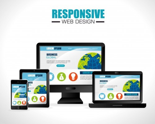 Responsive web and technology design, vector illustration eps10.